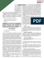 DS 019-2020-EM Modifica Reglamento Ambiental Actividades Exploración Minera DS 042-2017-EM