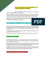 CONCEPTUALES DE LA NATURALEZA DEL ARTE DRAMÁTICO Y SU FUNCIÓN FORMATIVA