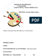 RECUPERACION 1º EVALUACIÓN PLASTICA