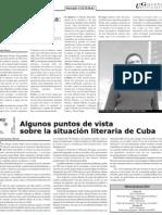 Algunos puntos de vista sobre la situación literaria de Cuba