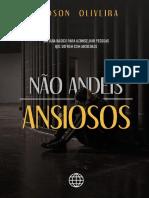 Ebook - Não Andeis Ansiosos - Madson Oliveira