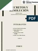 DECRETOS Y RESOLUCIÓN GAES #2