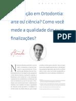 Finalização em Ortodontia - arte ou ciência Como você mede a qualidade das suas finalizações.pdf