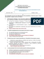 Chave da Prova Avaliação Parcelar 1 API I Diurno 2014