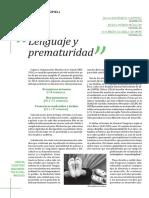 lenguaje y prematuridad