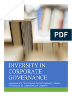 Diversity in Corporate Governance