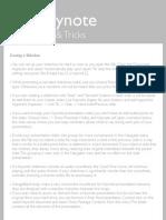 Tips & Tricks Keynote
