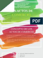 LOS ACTOS DE COMERCIO