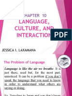 CHAPTER 10-Language, Culture and Interaction