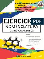 EJERCICIOS DE NOMENCLATURA DE HIDROCARBUROS(GRUPO 8 )(QUÍMICA ORGÁNICA).pdf