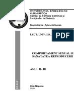 Comportament Sexual Și Sănătatea Reproducerii