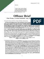 Köpke, Matthias - Offener Brief zur Corona Pandemie und Souveränität, 2020