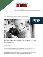 """Michel Foucault_ Lacan, el """"liberador"""" del psicoanálisis - UninomadaSUR"""