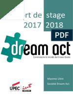 Rapport de stage Dream Act