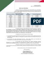 Aviso aos Acionistas - Cronograma de Pagamento de JCP Mensais 2021