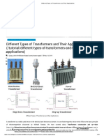 Different Types of Transformers and Their Applications
