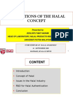 APPLICATIONS OF THE HALAL CONCEPT