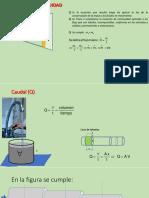 Ecuación de continuidad y Bernoulli