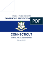 CT Prevention Budget - Fy 2012-2013