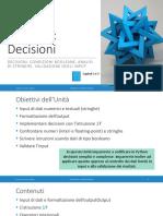 Unita' P3 - Decisioni