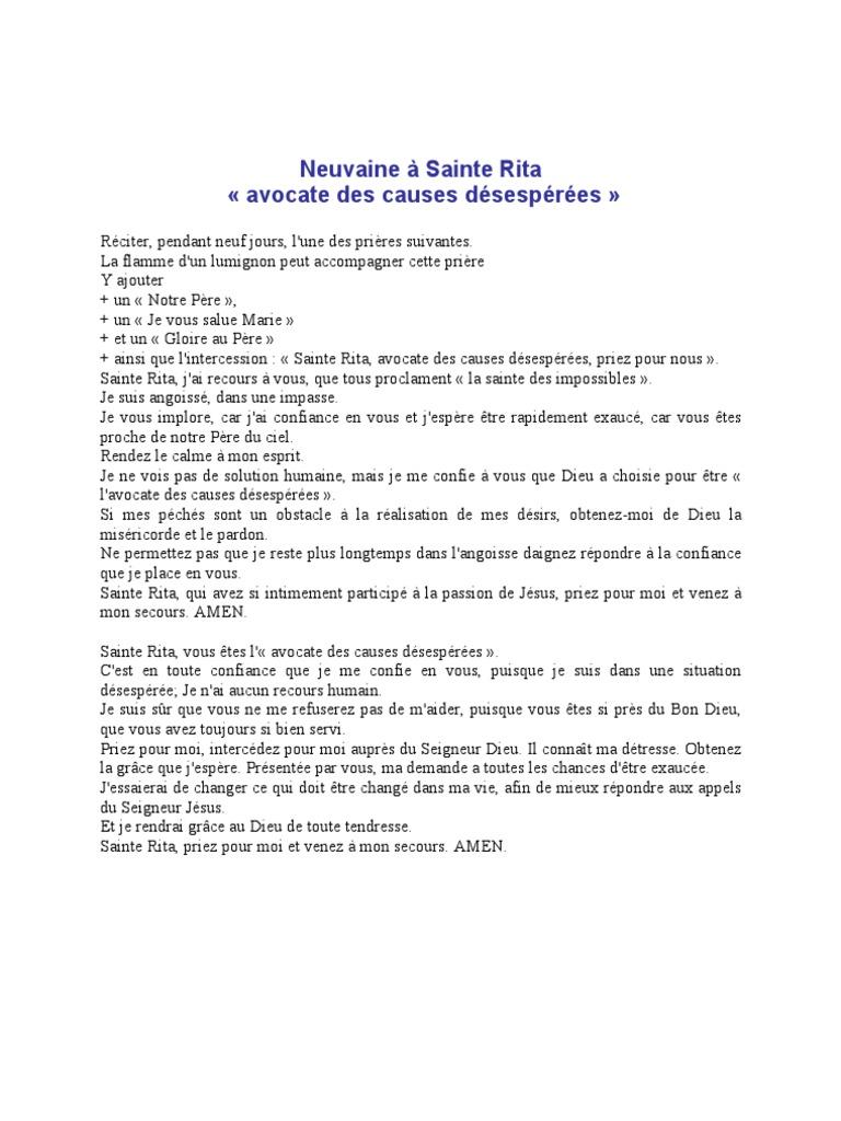 RITA SAINTE TÉLÉCHARGER NEUVAINE
