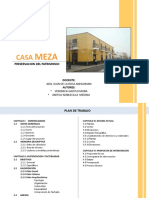 ANALISIS ARQUITECTONICO DE LA CASONA MEZA