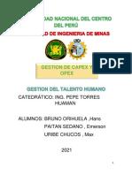 GESTION DE CAPEX Y OPEX