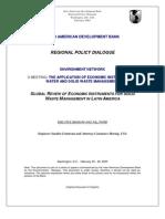 Economic Instruments for Solid Waste Management