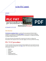 FAT for PLC