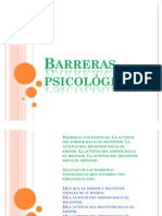 Barreras psicológicas