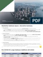 Q4 2020 Manhattan Sublease Space Market Overview