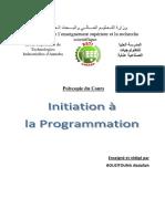 Support Initiation à la programmation MATLAB Partie 01-P
