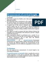 Measurement of cervical length