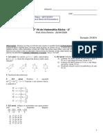 2ª VA Matemática Basica - 2020-1