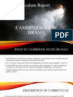 Cambridge IGCSE Drama