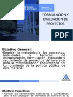 FORMULACION Y EVALUACION DE PROYECTOS ESAP 2019