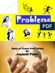 PROBLEMS DISTINGUISHED-JAYANTI PATEL