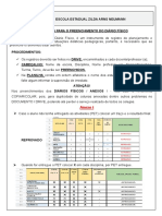Orientações Para o Preenchimento Dos Documentos - Eja