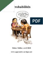 Didier Müller, Probabilités