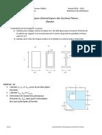 Devoir_Caractéristiques Géométriques des Sections Planes