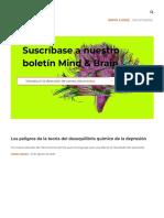 la teoría del desequilibrio químico de la depresión
