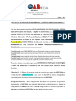 Contrato de Prestação de Serviços e Permuta ESA 2020