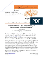 Stephen J. Ball y la investigación sobre políticas educativas 2016