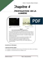 Chapitre 4 propagation de la lumière