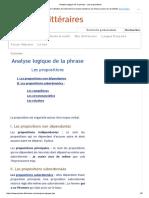Analyse logique de la phrase - Les propositions.pdf