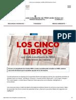 5 libros para estudiantes de MBA _ EUDE Business School