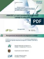 ANACEC și rolul acesteia în asigurarea calității în educație