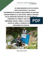 INFORME DE CARACTERIZACION DE FUENTE DE AGUA-TAMBILLO