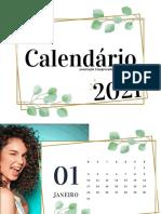 Calendário Parede 2021