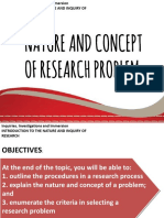 WEEK 02 NATURE AND CONCEPT OF RESEARCH PROBLEM (1)